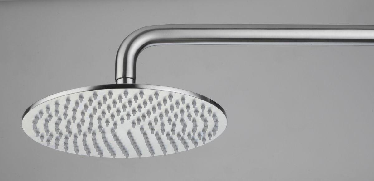rvs design regendouche extra plat a 23cm rond model
