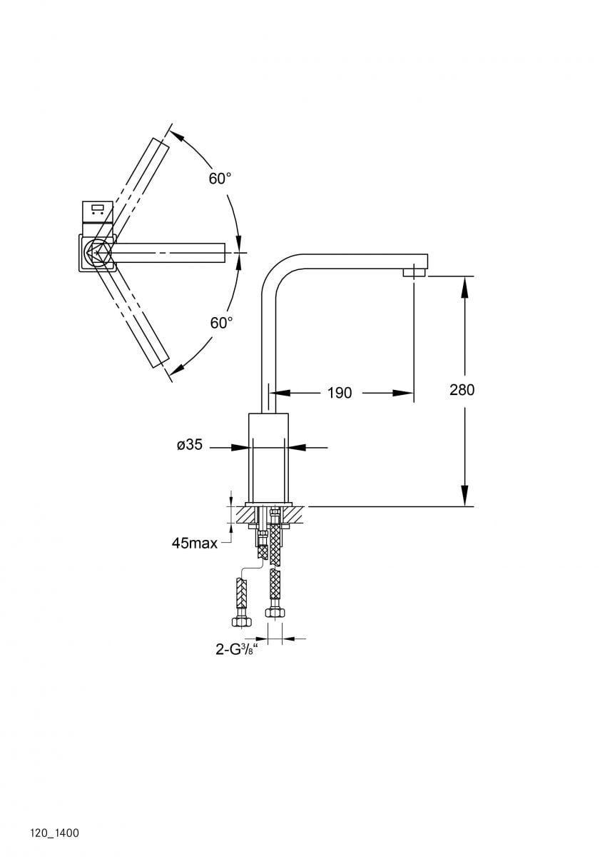 steinberg quadro keukenkraan