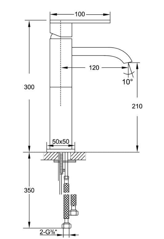 design waskomkraan steinberg quadrato