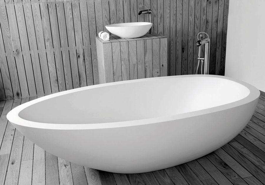 rvs pure vrijstaande badzuil